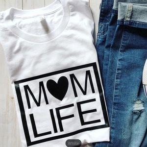 Mom life love tshirt